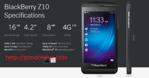 Harga dan Spesifikasi Lengkap Blackberry Z10