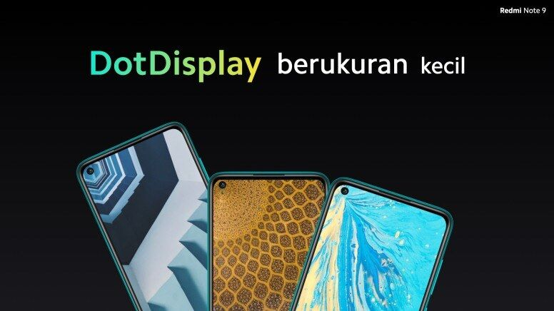 Kamera Depan Dot Display Redmi Note 9
